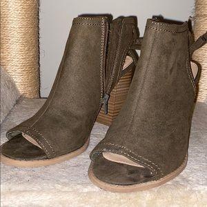 Lauren Conrad Dark Green Ankle Boots